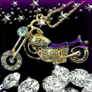 Betsey Johnson Motorcycle Necklace